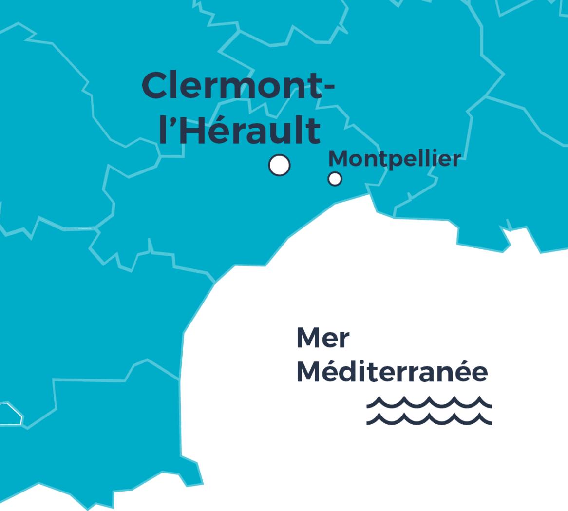 Carte situation - Le Chant du Grillon - Clermont-l'Hérault