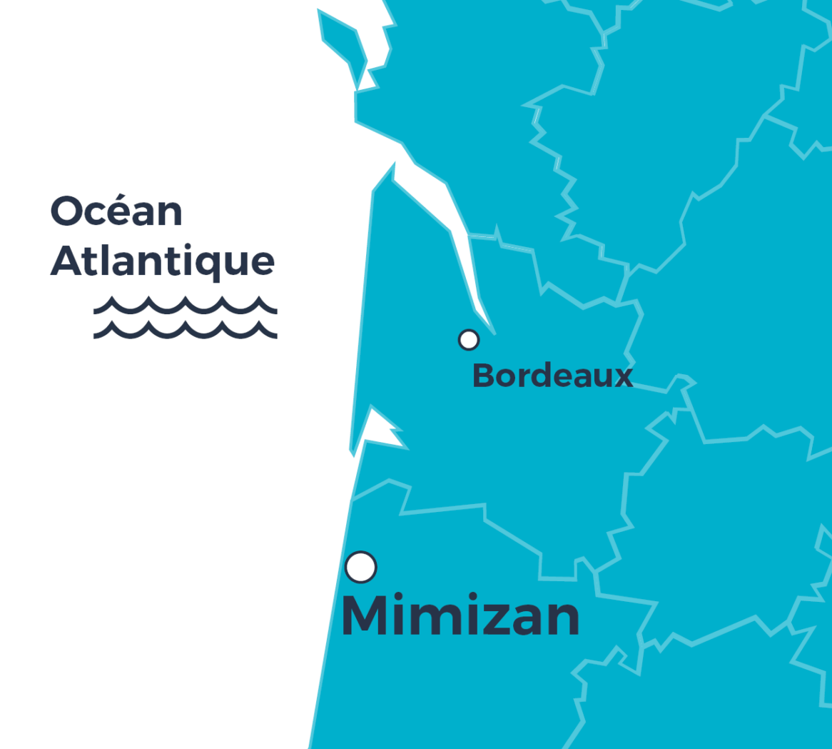Carte situation - Mimizan - Soleil Couchant
